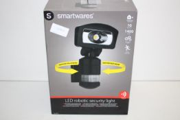 BOXED SMARTWARES LED ROBOTIC SECURITY LIGHT WITH PIR SENSOR RRP £80.02Condition ReportAppraisal