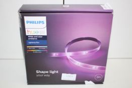 BOXED PHILIPS HUE PERSONAL WIRELESS LIGHTING WHITE AND COLOUR AMBIANCE LIGHTSTRIP PLUS RRP £87.