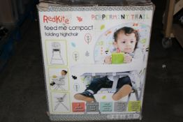 BOXED RED KITE PEPPERMINT TRAIL FEED ME FOLDING COMPACT HIGH CHAIR RRP £39.96Condition