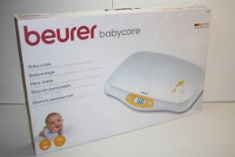 BOXED BEURER BABYCARE BABY SCALE MODEL: BY80 RRP £45.99Condition ReportAppraisal Available on