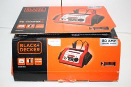 BOXED BLACK & DECKER BATTERY CHARGER RE-CHARGE IT 80AMP ENGINE START RRP £139.99Condition