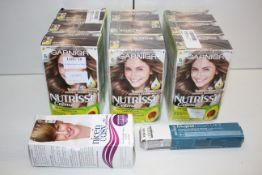 11X ASSORTED HAIR COLOURS/HIGHLIGHTS BY GARNIER, CLAIROL & L'OREAL (IMAGE DEPICTS STOCK)Condition