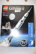 BOXED LEGO NASA APOLLO SATURN V ROCKET & LANDING MODULE 92176 RRP £109.00Condition ReportAppraisal