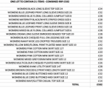ONE LOT TO CONTAIN 21 NEXT ITEMS - COMBINED RRP £582 (1085)