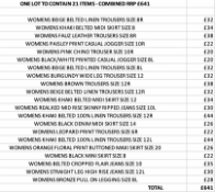 ONE LOT TO CONTAIN 21 NEXT ITEMS - COMBINED RRP £641 (1083)