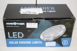 BOXED AMBOTHER LED SOLAR GROUND LIGHTSCondition ReportAppraisal Available on Request- All Items
