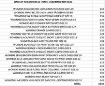 ONE LOT TO CONTAIN 21 NEXT ITEMS - COMBINED RRP £631 (1084)