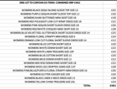 ONE LOT TO CONTAIN 20 NEXT ITEMS- COMBINED RRP £462 (1080)