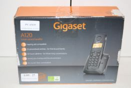 BOXED GIGASET A120 CORDLESS HOME PHONE RRP £29.99Condition ReportAppraisal Available on Request- All