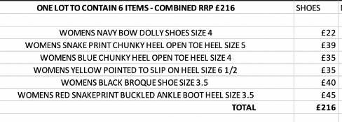 ONE LOT TO CONTAIN 6 NEXT ITEMS - COMBINED RRP £216 (1095)