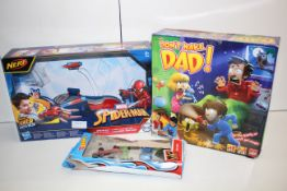 3X BOXED ASSORTED TOYS TO INCLUDE HOT WHEELS, NERF SPIDER-MAN & OTHER (IMAGE DEPICTS STOCK)Condition