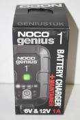 BOXED NOCO GENIUS 1 BATTERY CHARGER + MAINTAINER RRP £69.99Condition ReportAppraisal Available on