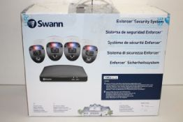 BOXED SWANN ENFORCER SECURITY SYSTEM EXPANDABLE 4 CAMERA VIDEO WITH FULL COLOUR DIGITAL & POLICE