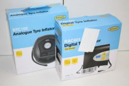 2X BOXED ASSORTED RING TYRE INFLATORS COMBINED RRP £56.00Condition ReportAppraisal Available on