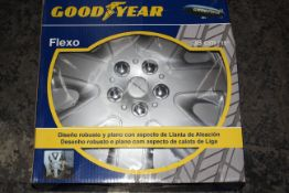 "BOXED GOODYEAR FLEXO 38CM/15"" WHEEL TRIMS RRP £34.99Condition ReportAppraisal Available on"