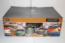 BOXED THE HAIRY BIKERS NON-STICK 3 PIECE PAN SET RRP £69.00Condition ReportAppraisal Available on