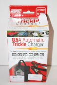 BOXED MAYPOLE 0.5A AUTOMATIC TRICKLE CHARGER MP7402 RRP £19.99Condition ReportAppraisal Available on