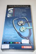 BOXED GIMA CLASSIC DUAL HEAD STETHOSCOPE RRP £27.00Condition ReportAppraisal Available on Request-