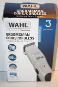 BOXED WAHL GROOMSMAN CORD/CORDLESS STUBBLE & BEARD TRIMMER RRP £19.99Condition ReportAppraisal