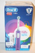 BOXED ORAL B JUNIOR POWERED BY BRAUN TOOTHBRUSH RRP £29.99Condition ReportAppraisal Available on
