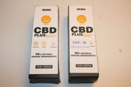 2X BOXED WEIDER HEMP CBD PLUS MASSAGE CREAM 75ML Condition ReportAppraisal Available on Request- All