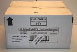 BOXED JOHNSON & JOHNSON JB COTTON PADS 50'SCondition ReportAppraisal Available on Request- All Items