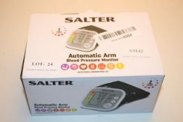 BOXED SALTER AUTOMATIC ARM BLOOD PRESSURE MONITOR RRP £24.99Condition ReportAppraisal Available on