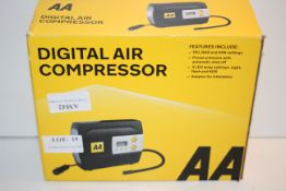BOXED AA DIGITAL AIR COMPRESSOR RRP £29.99Condition ReportAppraisal Available on Request- All
