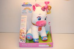 BOXED BABY CLEMENTONI BABY UNICORN SINGS AND LIGHTS UP RRP £23.49Condition ReportAppraisal Available