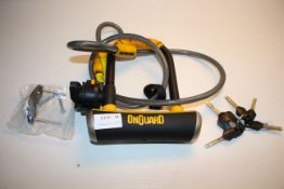 UNBOXED ONGUARD D-LOCK AND CABLE WITH 5X KEYSCondition ReportAppraisal Available on Request- All