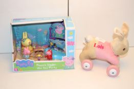 2X ASSORTED ITEMS TO INCLUDE PEPPA PIG & LOIS BUNNY Condition ReportAppraisal Available on