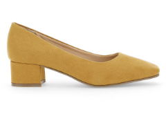 1 X UNBOXED YELLOW SUEDE LOW CHUNKY HEEL COURT SHOE SIZE 5 £35Condition ReportALL ITEMS ARE BRAND