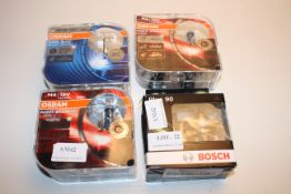 4XASSORTED BOXED LIGHTS BY OSRAM & BOSCH (IMAGE DEPICTS STOCK)Condition ReportAppraisal Available on