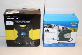 2X ASSORTED BOXED AIR COMPRESSORS/TRYE INFLATORS (IMAGE DEPICTS STOCK)Condition ReportAppraisal