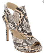 1 X UNBOXED SNAKE PRINT OPEN TOE SLINGBACK HEELS SIZE 5 £39Condition ReportALL ITEMS ARE BRAND AND