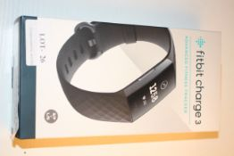 BOXED FITBIT CHARGE 3 ADVANCED FITNESS TRACKER RRP £79.99Condition ReportAppraisal Available on
