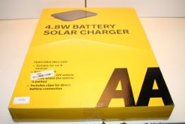 BOXED AA 4.8W BATTERY SOLAR CHARGER MODEL: AA1432 RRP £43.85Condition ReportAppraisal Available on