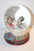 "BOXED DISNEY TRADITIONS ""SPLENDID SKATERS"" SNOWGLOBVE BY JIM SHORE RRP £69.99Condition"