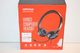 BOXED MPOW WIRED COMPUTER HEADSET MODEL: PA071ACondition ReportAppraisal Available on Request- All