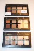 3X BOXED MAX FACTOR MIRACLE CONTOURING 3,2,1 CONTOUR LIFT HIGHLIGHT COMBINED RRP £21.00Condition