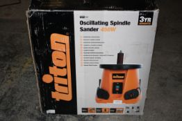 BOXED TRITON OSCILLATING SPINDLE SANDER 450W TSPS450 RRP £149.95Condition ReportAppraisal