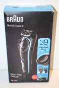 BOXED BRAUN BEARD TRIMMER 3 RRP £79.99Condition ReportAppraisal Available on Request- All Items