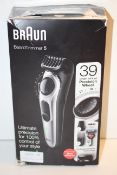 BOXED BRAUN BEARD TRIMMER 5 MODEL: BT5260 RRP £59.99Condition ReportAppraisal Available on