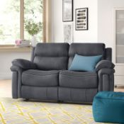 BOXED ADALYNN 2 SEATER RECLINER SOFA IN CHARCOAL, APPEARS NEW, RRP-£699.00Condition