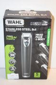 BOXED WAHL STAINLESS STEEL 9-IN-1 MULTIGROOMER RRP £59.99Condition ReportAppraisal Available on