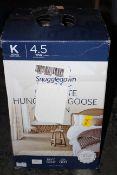 BOXED SNUGGLEDOWN ULTIMATE HUNGARIAN GOOSE DOWN DUVET KINGSIZE 4.5TOG SUMMER COMFORT RRP £229.