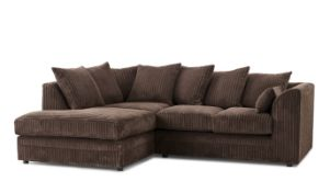 BRAND NEW MOANA CORNER SOFA IN CHOCOLATE, DOES NOT APPEAR TO HAVE EVER BEEN USED, UNBAGGED AND