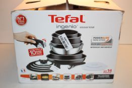 BOXED TEFAL INGENIO ESSENTIAL 14 PIECE SET RRP £149.84Condition ReportAppraisal Available on