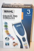 BOXED WAHL COLOUR PRO CORDLESS CORD/CORDLESS CLIPPER RRP £49.99Condition ReportAppraisal Available