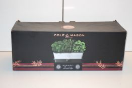 BOXED COLE & MASON BURWELL SEL-WATERING HERB KEEPER TRIPLE RRP £47.60Condition ReportAppraisal